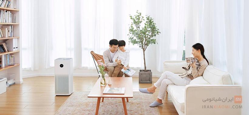 دستگاه تصویه کننده هوا شیائومی مدل mi air purifier 3c