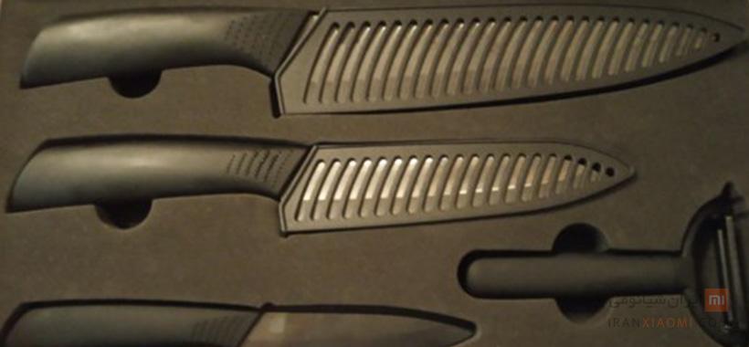 ست چاقو سرامیکی شیائومی مدل HuoHou HU0010